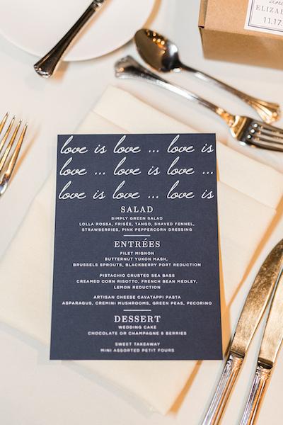 Leah Langley Photography - orlando wedding photographer - Grand Bohemian Hotel- LGBTQ wedding - Orlando LGBTQ wedding photography - custom menu - love is love