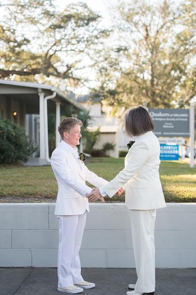 Leah Langley Photography - orlando wedding photographer - quaker wedding - LGBTQ wedding - Orlando LGBTQ wedding photography - Orlando Quaker Meeting- two brides