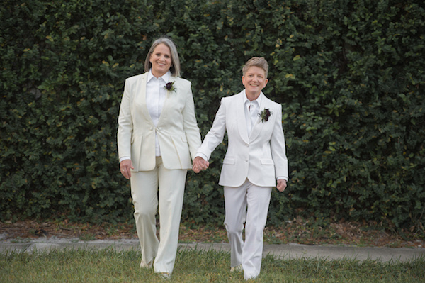 Leah Langley Photography - orlando wedding photographer - quaker wedding - LGBTQ wedding - Orlando LGBTQ wedding photography - Orlando Quaker Meetingbrides in white suits