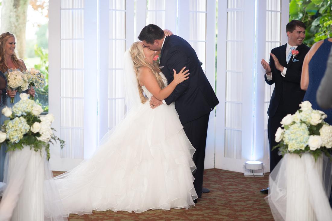 Leah Langley Photography – Florida Wedding Photographer – south Florida wedding photographer – Jacaranda country club wedding -first kiss