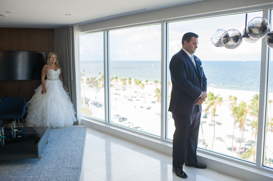 Leah Langley Photography – Florida Wedding Photographer – south Florida wedding photographer – Jacaranda country club wedding -first look