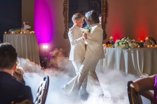 Leah Langley Photography - orlando wedding photographer - Grand Bohemian Hotel- LGBTQ wedding - Orlando LGBTQ wedding photography --first dance