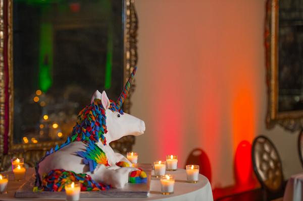 Leah Langley Photography - orlando wedding photographer - Grand Bohemian Hotel- LGBTQ wedding - Orlando LGBTQ wedding photography --unicorn wedding cake