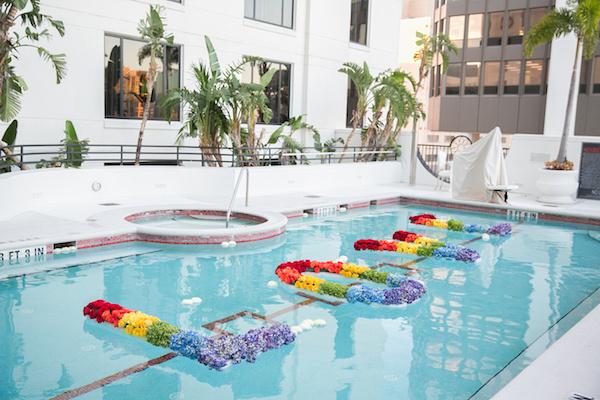 Leah Langley Photography - orlando wedding photographer - quaker wedding - LGBTQ wedding - Orlando LGBTQ wedding photography - Orlando Quaker Meeting - cocktail hour decor - Pulse Memorial